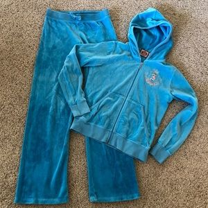 Girls Juicy Couture Velour Tracksuit